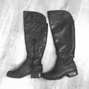 Black Lucky Brand Leather OTK boots